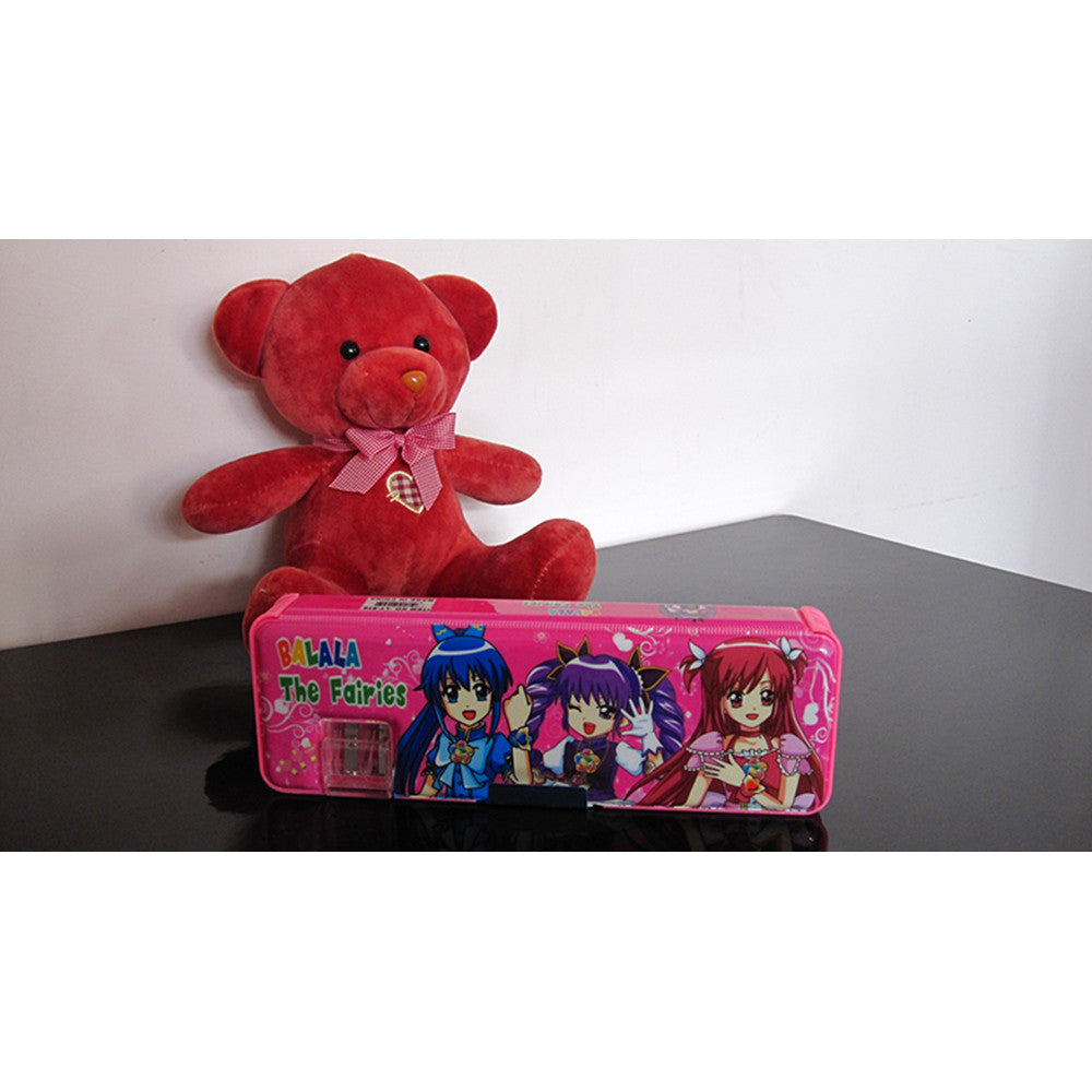 Cute cartoon student supplies Multifunction Two-sided pencil boxes pencil case   balala pink - Mega Save Wholesale & Retail - 1