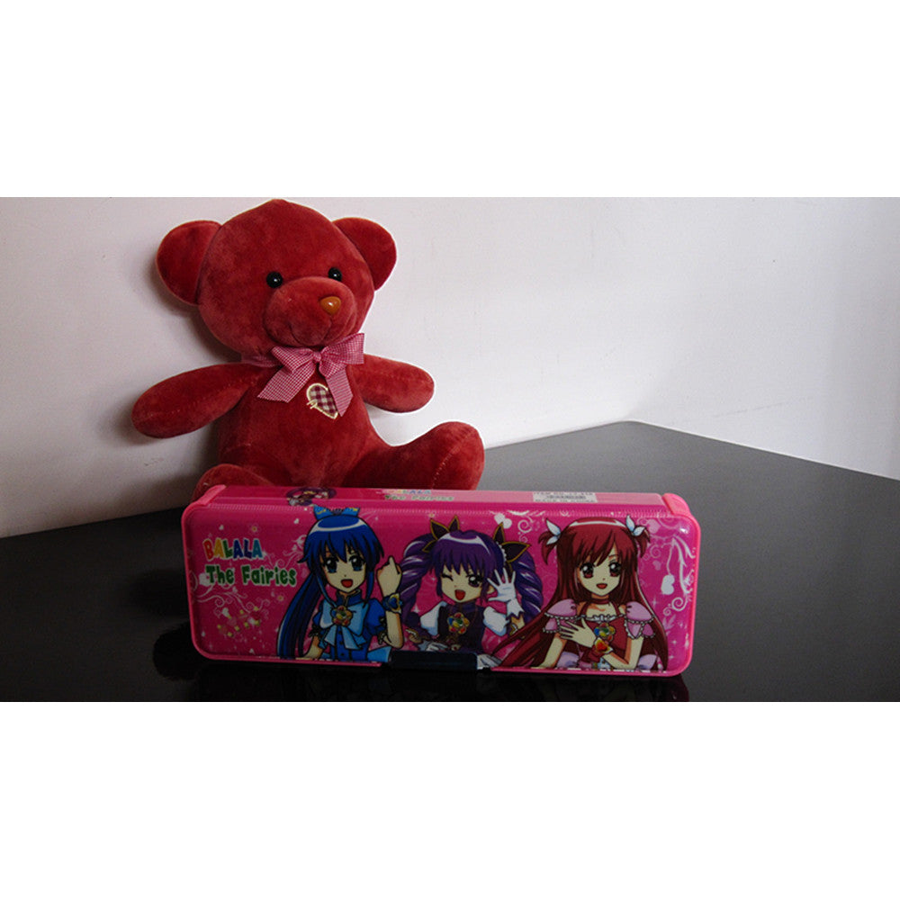 Cute cartoon student supplies Multifunction Two-sided pencil boxes pencil case   balala pink - Mega Save Wholesale & Retail - 4