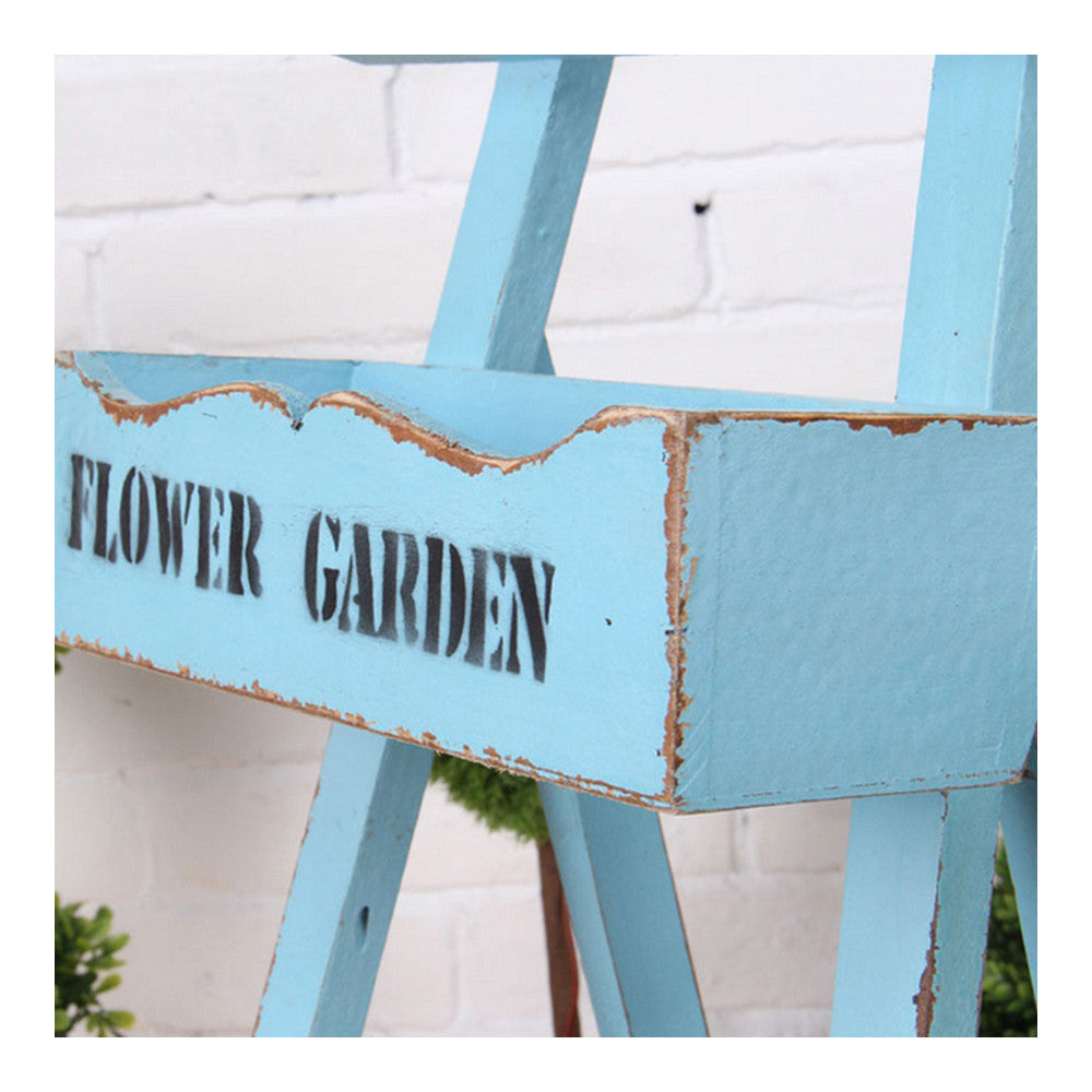 Double-layer Storage Rack Blackboard Flower Stand Wood    white - Mega Save Wholesale & Retail - 2
