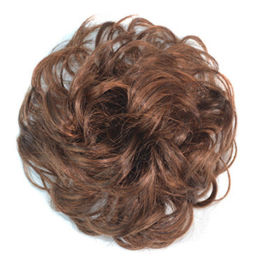 Wig Buckle Type Curled Fluffy Hair Pack light brown - Mega Save Wholesale & Retail - 1