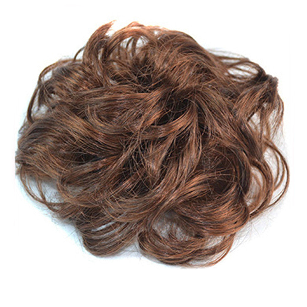 Wig Buckle Type Curled Fluffy Hair Pack light brown - Mega Save Wholesale & Retail - 2