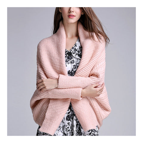 Long Sleeve Cardigan Knitwear Sweater Coat  pink   S - Mega Save Wholesale & Retail - 1