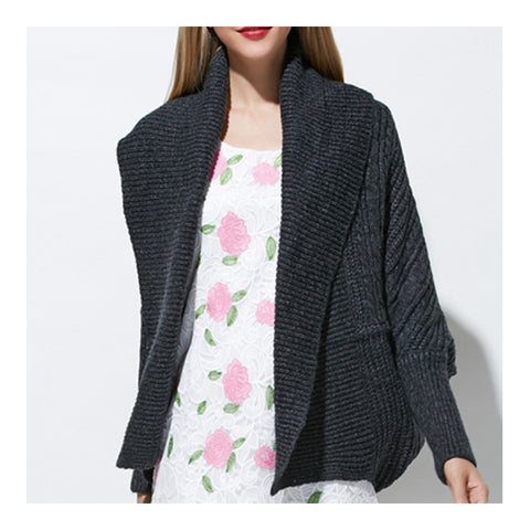 Long Sleeve Cardigan Knitwear Sweater Coat   black  S - Mega Save Wholesale & Retail - 1
