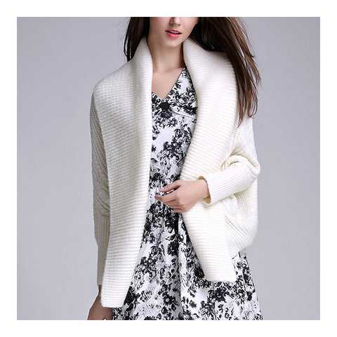 Long Sleeve Cardigan Knitwear Sweater Coat    cream   S - Mega Save Wholesale & Retail - 1