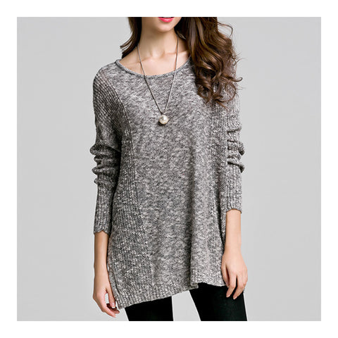 Batwing Knitwear Thin Loose Pullover Sweater   light floral - Mega Save Wholesale & Retail - 1