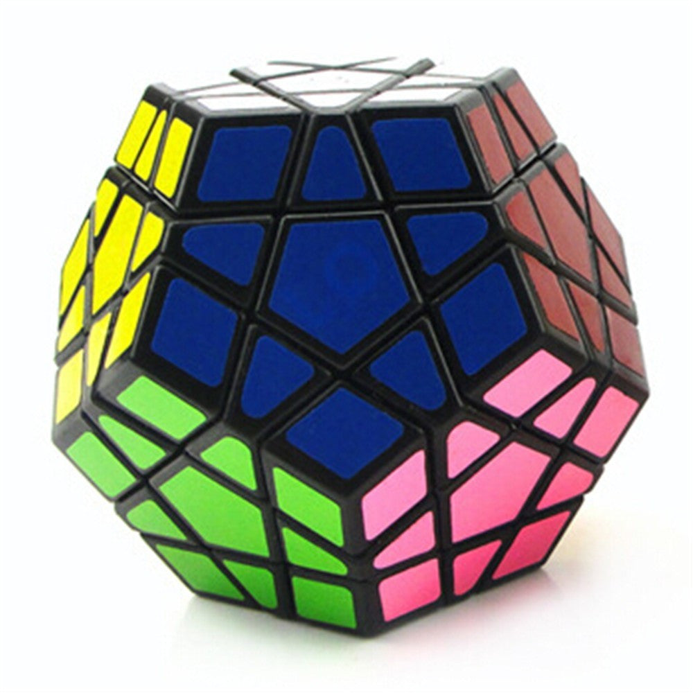 Dodecahedron magic cube 12 surfaces speed White Black twist Polygonal Toy Puzzle Rubiks Cube    black - Mega Save Wholesale & Retail - 3