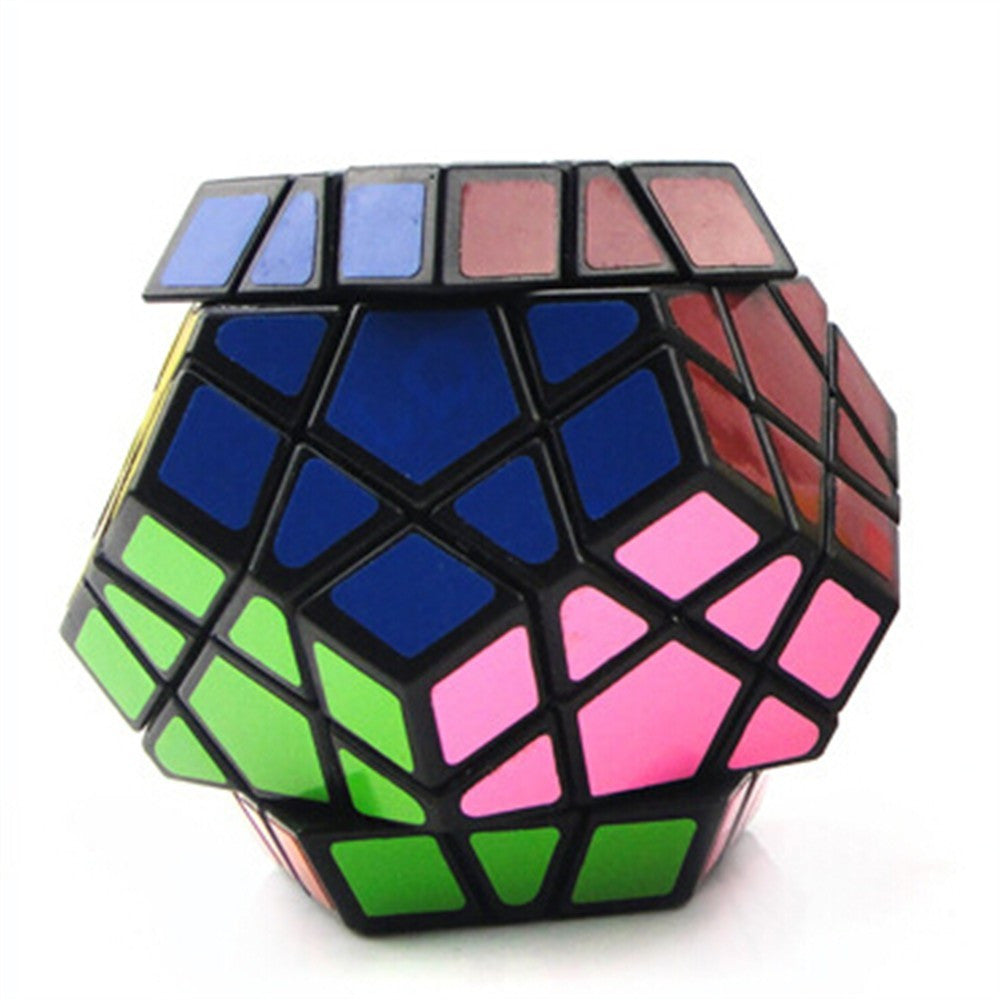 Dodecahedron magic cube 12 surfaces speed White Black twist Polygonal Toy Puzzle Rubiks Cube    black - Mega Save Wholesale & Retail - 4