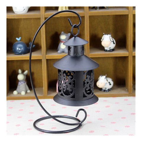Retro Hollowed Out Iron Art Candle Holder Black - Mega Save Wholesale & Retail - 1