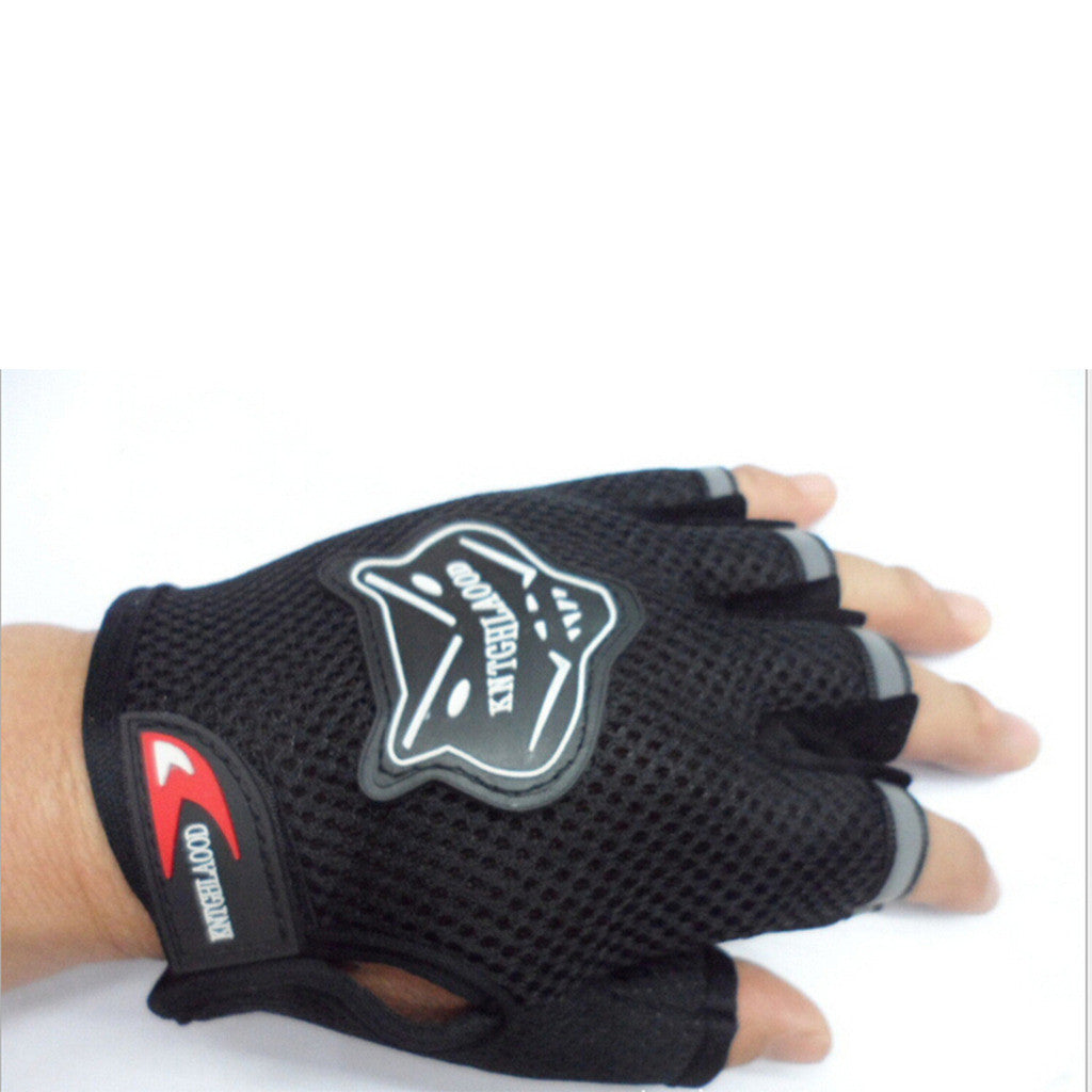 Outdoor Sports Fingerless Breathable Cycling Gloves Bike Bicycle Half Finger Gloves Red - Mega Save Wholesale & Retail - 2
