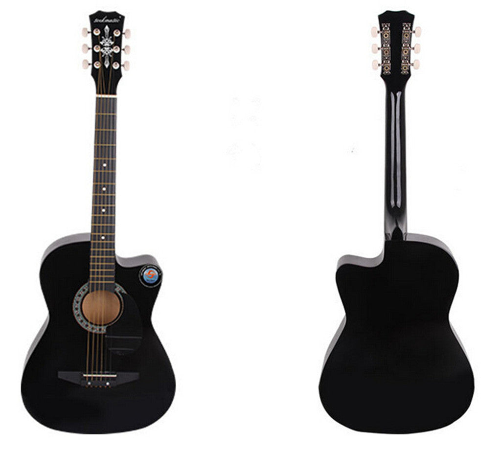 New Professional Acoustic Callaway Folk 38 inch  Guitar STAGE ESSENTIALS Black - Mega Save Wholesale & Retail