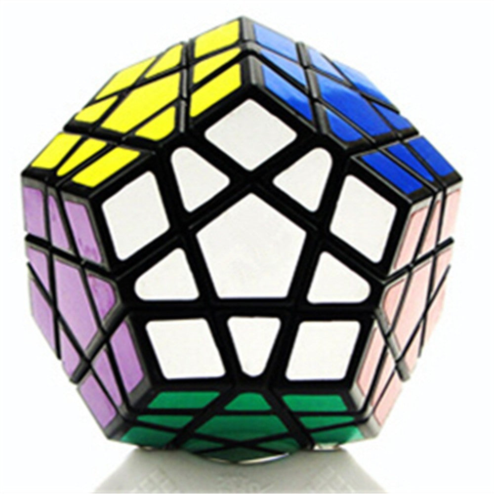 Dodecahedron magic cube 12 surfaces speed White Black twist Polygonal Toy Puzzle Rubiks Cube    black - Mega Save Wholesale & Retail - 1