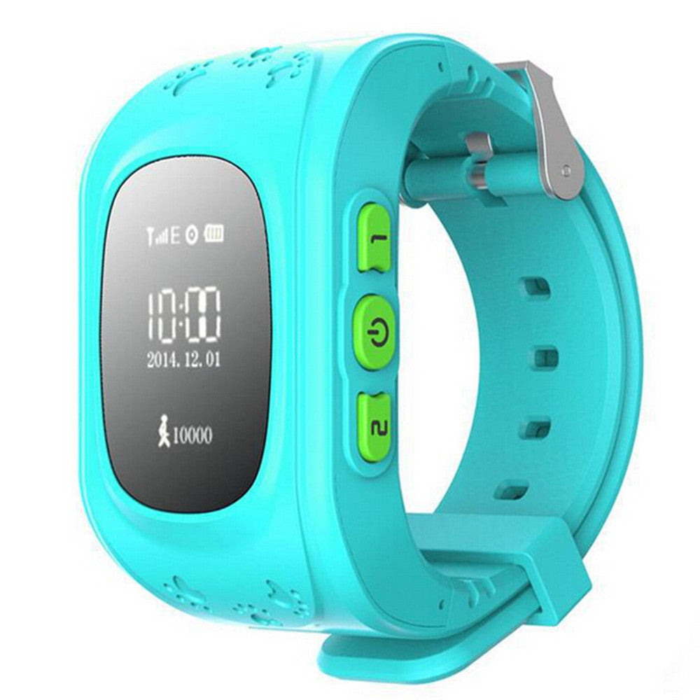 Kid Wrist GPS Tracker Real-time Positioning Tracker Watch SOS   blue - Mega Save Wholesale & Retail - 1