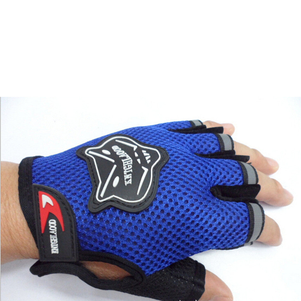 Outdoor Sports Fingerless Breathable Cycling Gloves Bike Bicycle Half Finger Gloves Red - Mega Save Wholesale & Retail - 4