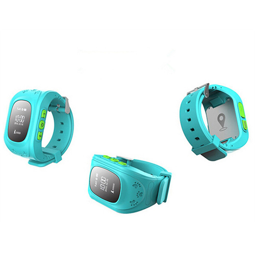 Kid Wrist GPS Tracker Real-time Positioning Tracker Watch SOS   blue - Mega Save Wholesale & Retail - 4