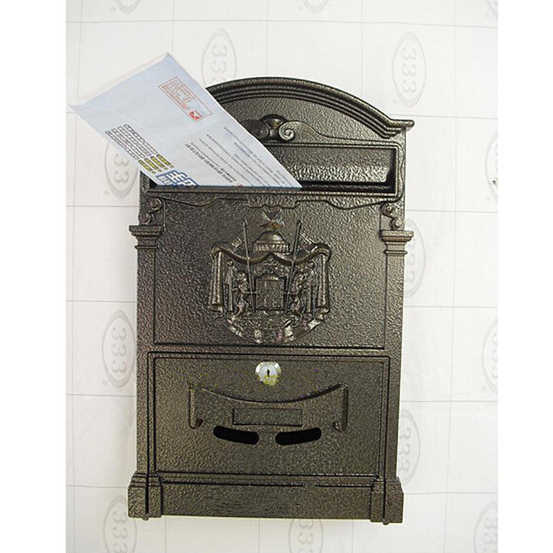 Countryside Mailbox Small Suggestion Box Iron Sheet Mailbox Vintage Ballot Box without Lock   pink - Mega Save Wholesale & Retail - 1