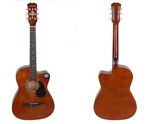 New Professional Acoustic Callaway Folk 38 inch  Guitar STAGE ESSENTIALS Brown - Mega Save Wholesale & Retail