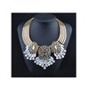 New First Publication European Big Brand Alloy Zircon Flower Waterdrop Fake Collar Necklace   blue - Mega Save Wholesale & Retail - 3