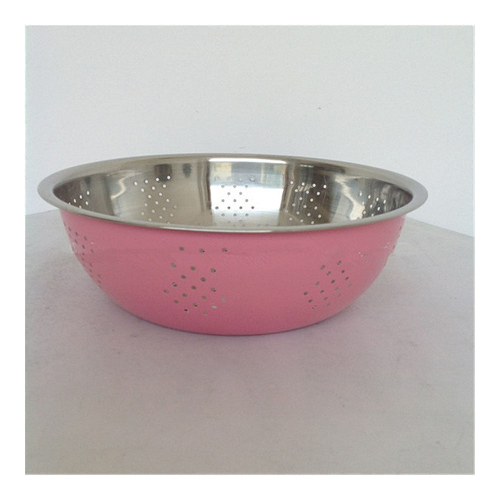 Gift sieve three-piece stainless steel rice sieve Wash rice sieve Wash rice and vegetables basin and basin - Mega Save Wholesale & Retail - 1