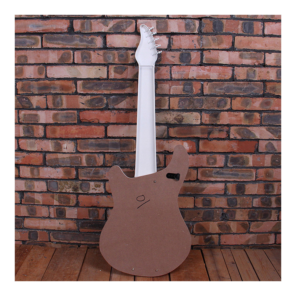 Vintage Iron Wood Guitar Wall Hanging Decoration    brown - Mega Save Wholesale & Retail - 2