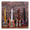 Vintage Iron Wood Guitar Wall Hanging Decoration    brown - Mega Save Wholesale & Retail - 4