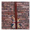 Vintage Iron Wood Guitar Wall Hanging Decoration    brown - Mega Save Wholesale & Retail - 1