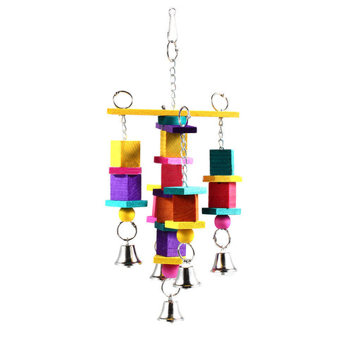Bird Toy Parrot Snap Wooden Bells Swing Ladder - Mega Save Wholesale & Retail - 1