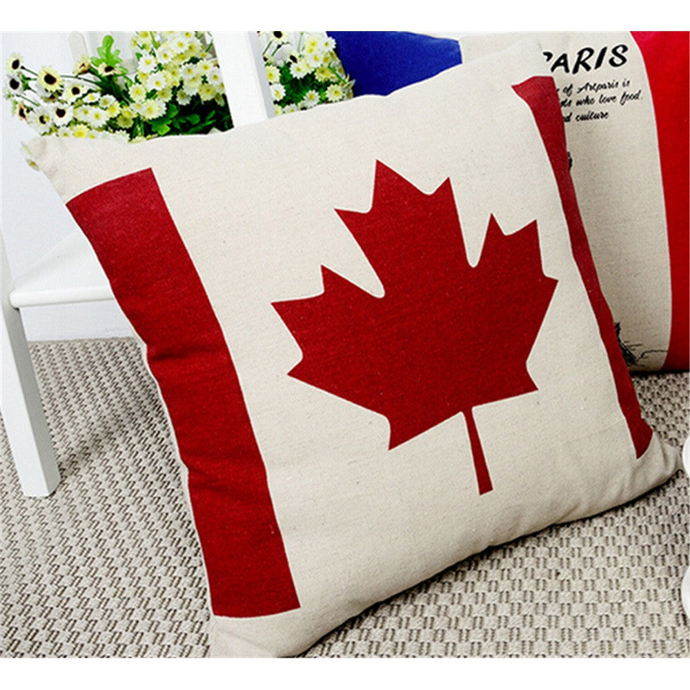 Cushion Throw Pillow -British Flag -Cotton Canvas   canada - Mega Save Wholesale & Retail