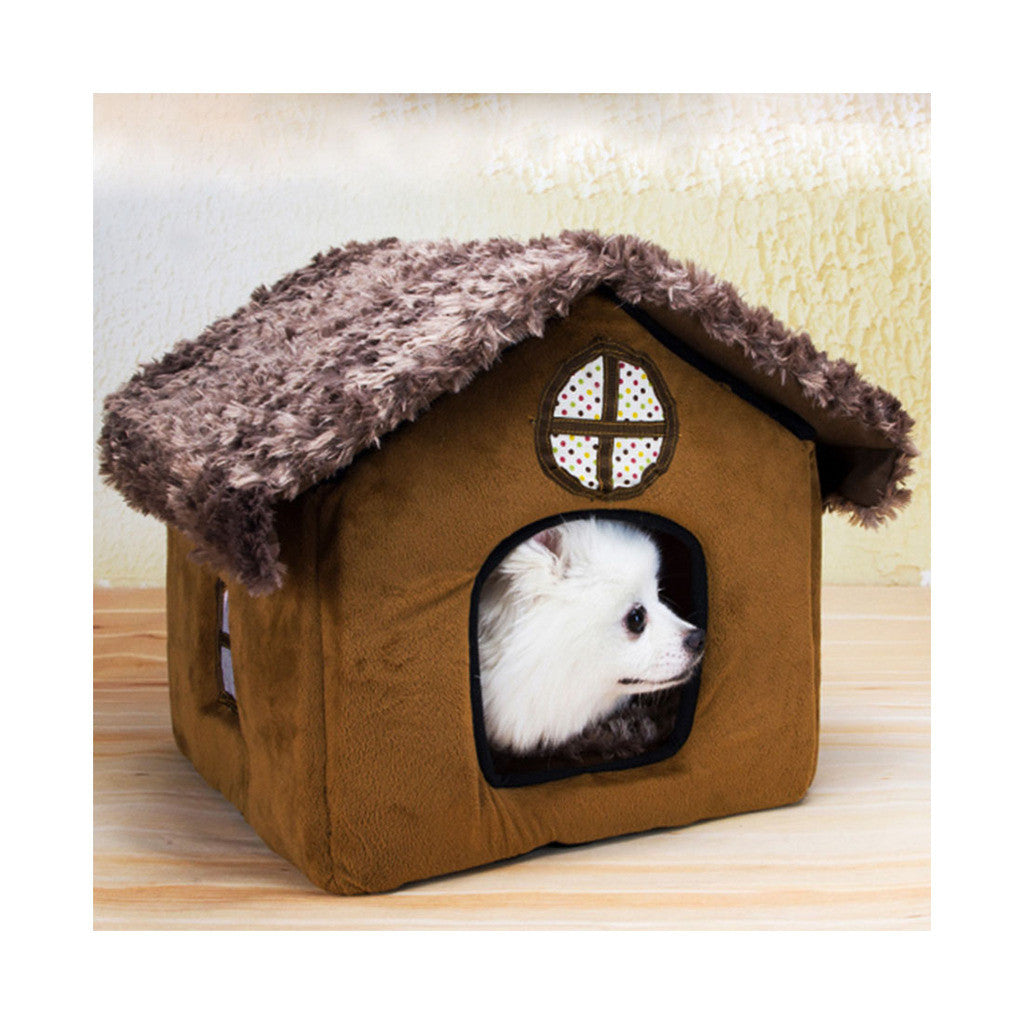 Fall Winter Teddy kennel pet kennel washable cottages Pomeranian Bichon small dog kennel dog house    cottages - Mega Save Wholesale & Retail - 1