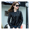 Woman PU Leather Biker Coat Short Handsome   S - Mega Save Wholesale & Retail - 1