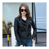 Woman PU Leather Biker Coat Short Handsome   S - Mega Save Wholesale & Retail - 2