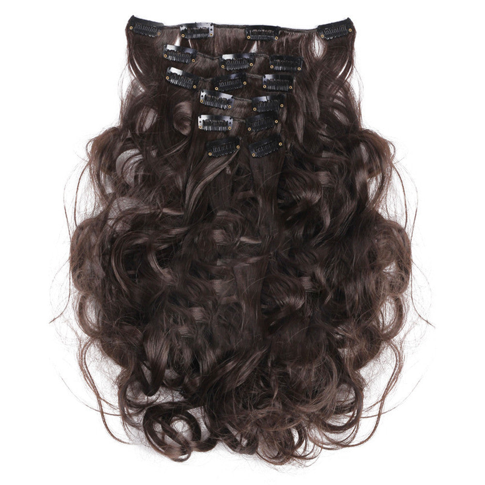 7pcs Suit Clips in Hair Extension Curled Wig Piece   4B - Mega Save Wholesale & Retail