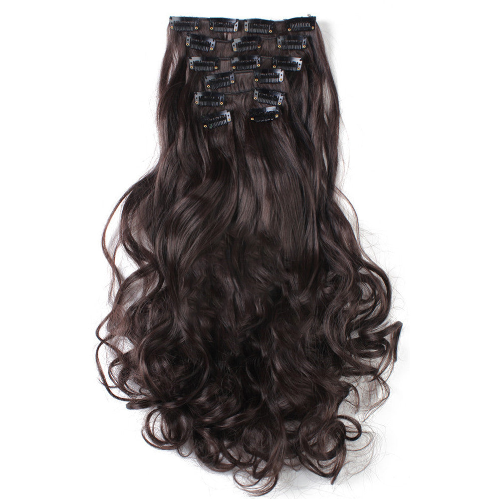 7pcs Suit Clips in Hair Extension Curled Wig Piece   6 - Mega Save Wholesale & Retail