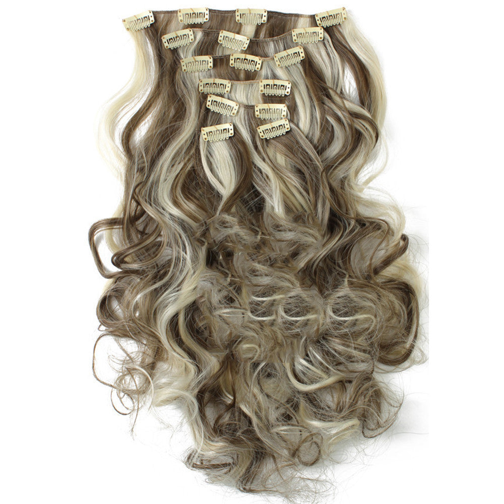 7pcs Suit Clips in Hair Extension Curled Wig Piece   6PH613 - Mega Save Wholesale & Retail