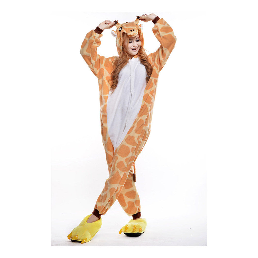 Unisex Adult Pajamas  Cosplay Costume Animal Onesie Sleepwear Suit giraffe - Mega Save Wholesale & Retail