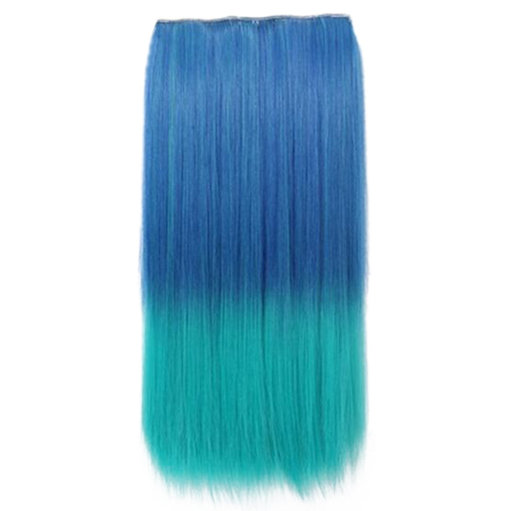 Wholesale Gradient color wig piece hair extension piece 5 animation clip hair piece wig Europe and America selling female cosplaya    12#
