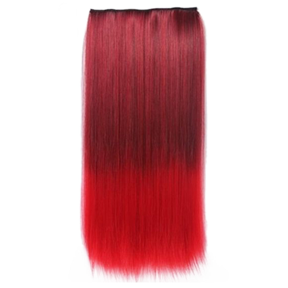 Wholesale Gradient color wig piece hair extension piece 5 animation clip hair piece wig Europe and America selling female cosplaya    3#