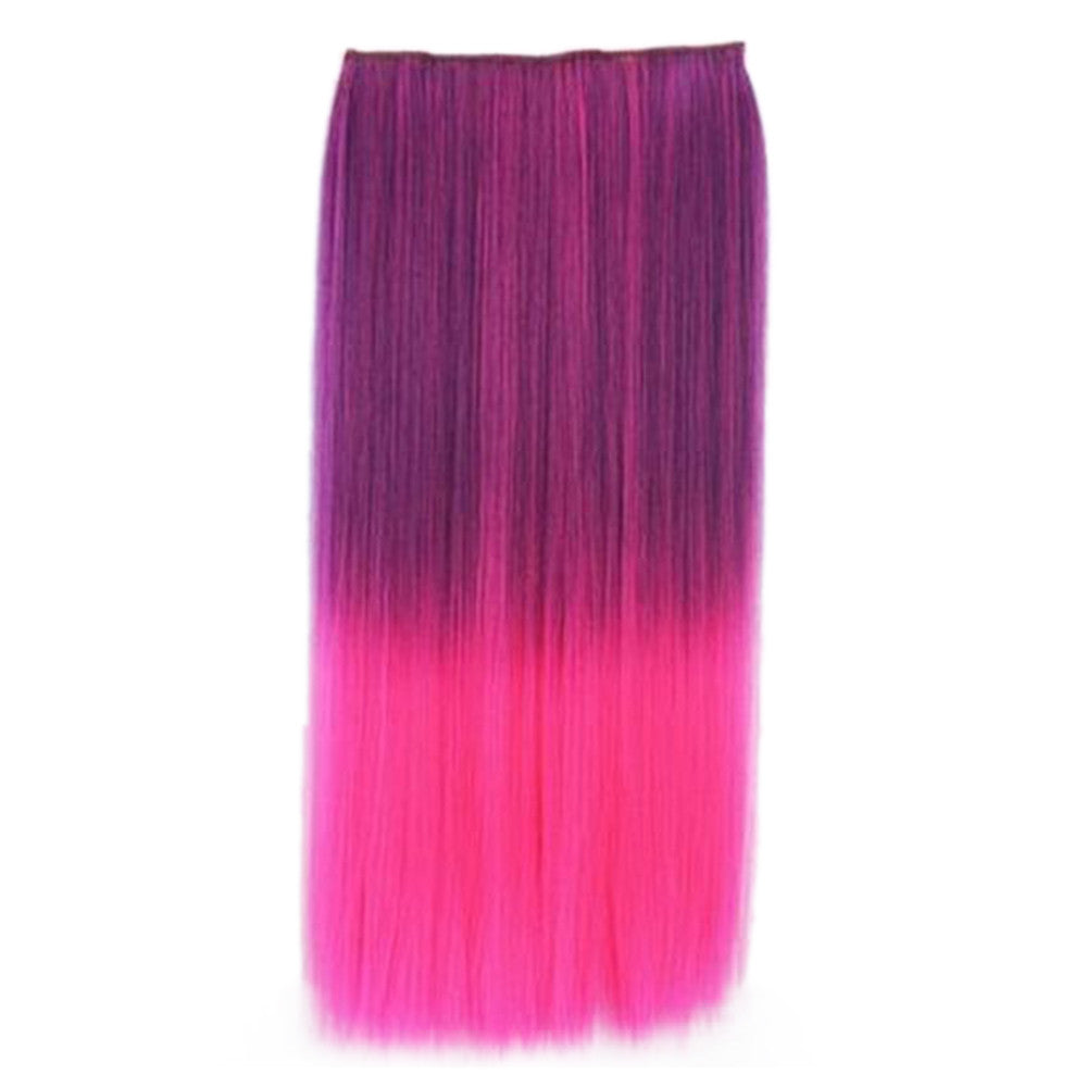 Wholesale Gradient color wig piece hair extension piece 5 animation clip hair piece wig Europe and America selling female cosplaya    6#