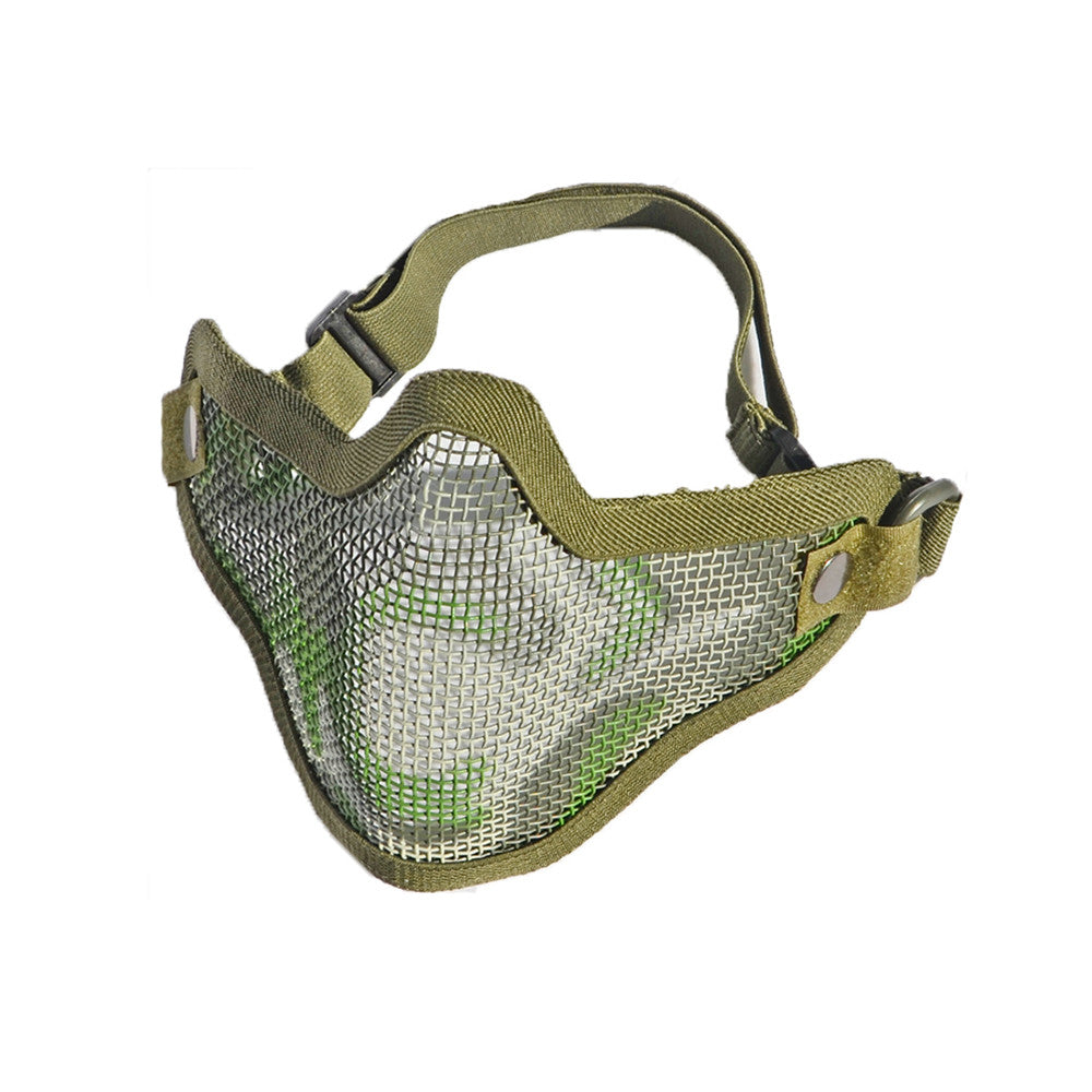 army fan outdoor protection untensil half-face wire protector field operation protection mask sports mask - Mega Save Wholesale & Retail - 2