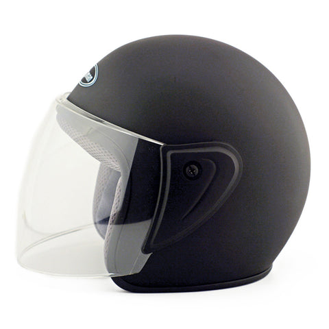 Motorcycle Motor Bike Scooter Safety Helmet 101   dull black - Mega Save Wholesale & Retail - 1