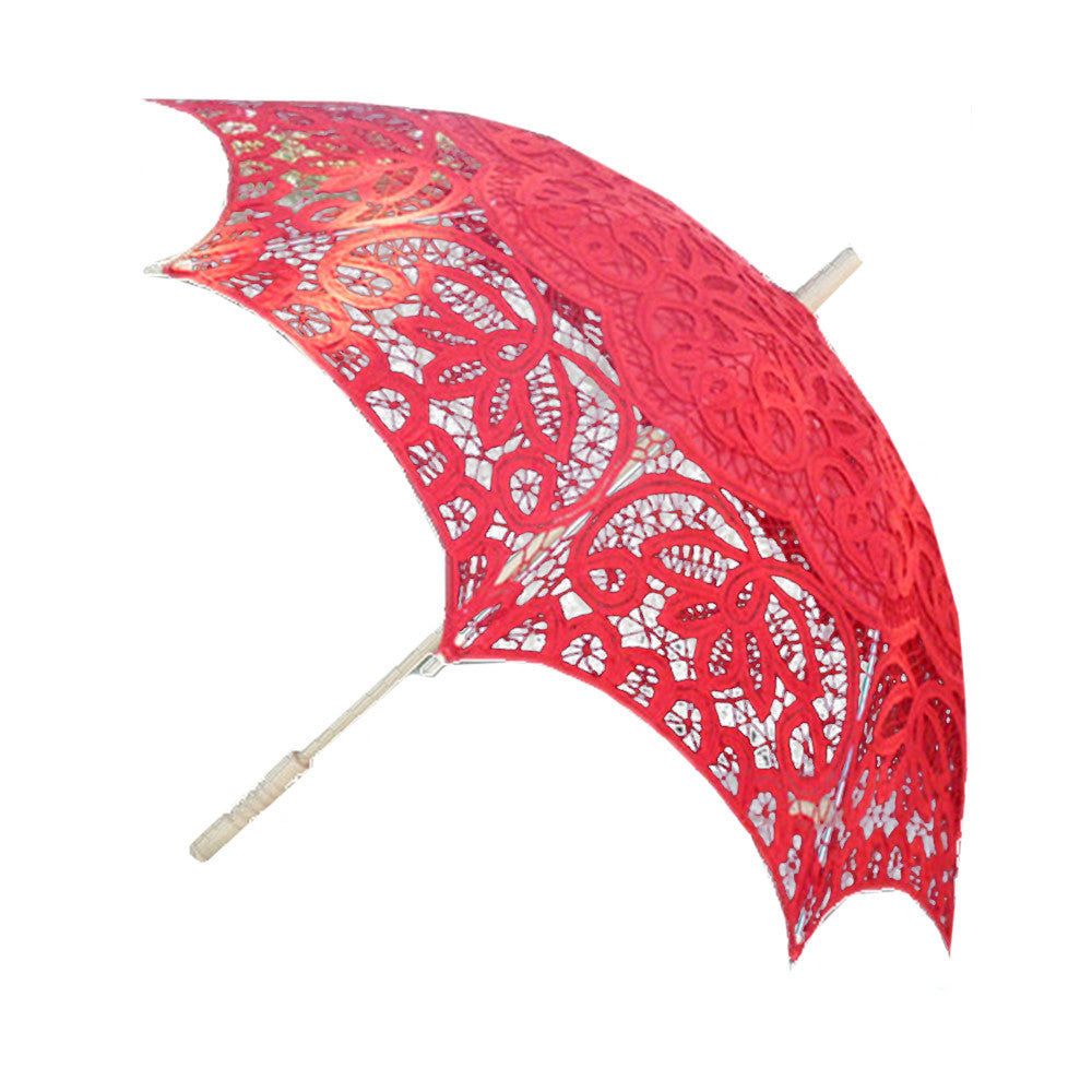 Lace Wedding Bridal Red Umbrella - Mega Save Wholesale & Retail