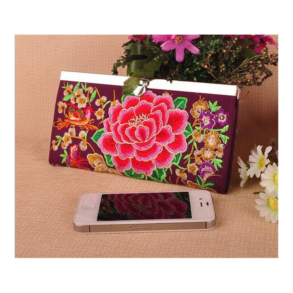 Yunnan National Style Embroidery Handbag National woman's Bag Handbag Small Coin Case - Mega Save Wholesale & Retail - 1