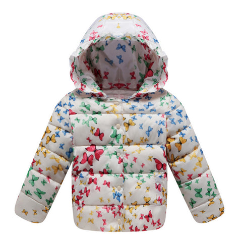 Child Down Coat Middle Long Thick Girl Coat Winter   white   100cm - Mega Save Wholesale & Retail - 1