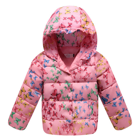 Child Down Coat Middle Long Thick Girl Coat Winter   pink    100cm - Mega Save Wholesale & Retail - 1
