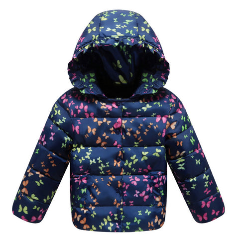 Child Down Coat Middle Long Thick Girl Coat Winter   navy    100cm - Mega Save Wholesale & Retail - 1