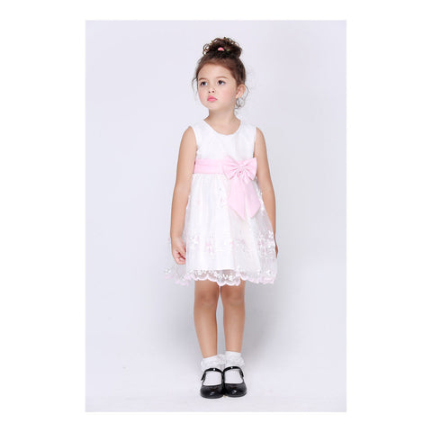 Bowknot Garment Girl Ball Gown Costume Children Kid Full Dress - Mega Save Wholesale & Retail