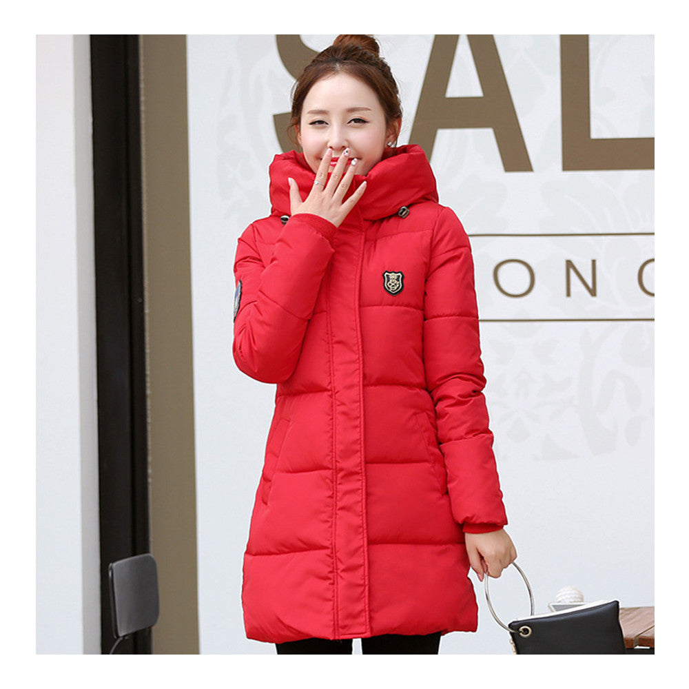 Super Long Down Coat Woman Thick Fashionable Thick   red    M - Mega Save Wholesale & Retail - 1