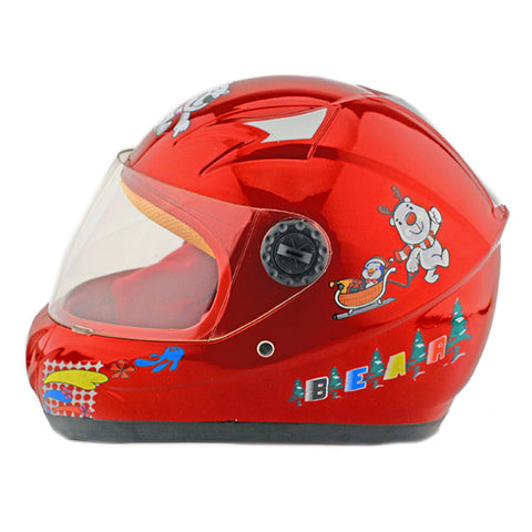 Child Motorcycle Motor Bike Scooter Safety Helmet 602   red - Mega Save Wholesale & Retail - 1