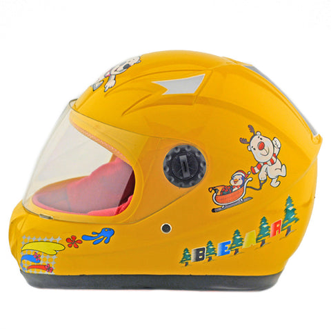 Child Motorcycle Motor Bike Scooter Safety Helmet 602   yellow - Mega Save Wholesale & Retail - 1