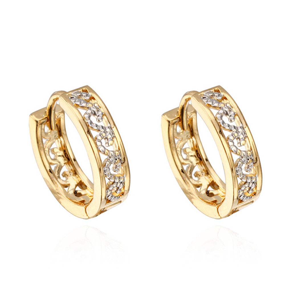 18K Gold Plated Zircon Earings - Mega Save Wholesale & Retail