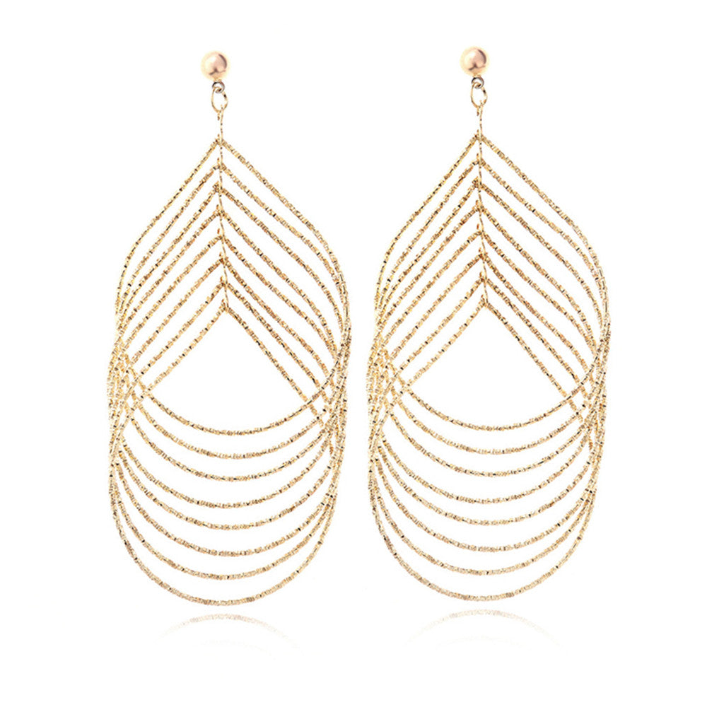 Exaggerated Iron Sheet Earrings - Mega Save Wholesale & Retail
